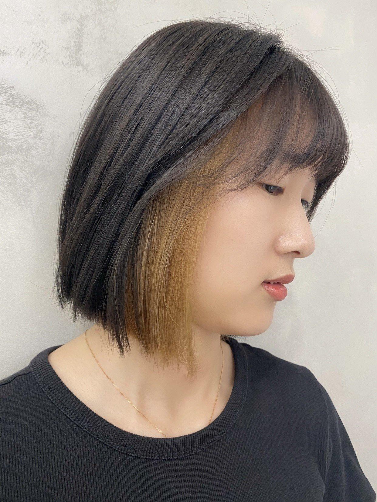 台中髮廊,耳圈染,內餡染